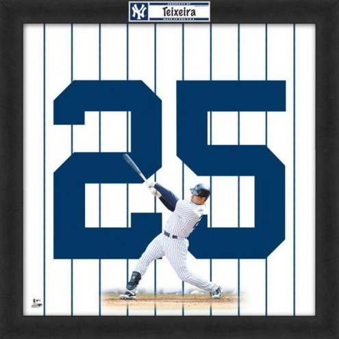 New York Yankees Mark Teixeira Uniframe Framed Jersey Photo