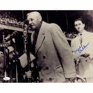 New York Yankees Mel Allen Signed Vertical 11 x 14 Photo With Babe Ruth