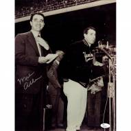 New York Yankees Mel Allen Signed Vertical 11 x 14 Photo With Dimaggio