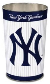 New York Yankees Metal Wastebasket