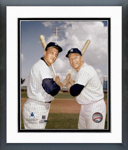 New York Yankees Mickey Mantle and Roger Maris Blue Sky Framed Photo