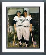New York Yankees Mickey Mantle and Roger Maris Palm Trees Framed Photo