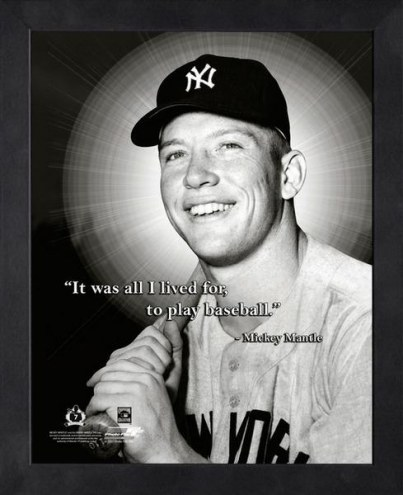 New York Yankees Mickey Mantle Baseball Framed Pro Quote