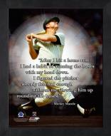 New York Yankees Mickey Mantle MLB Framed Pro Quote