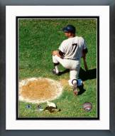 New York Yankees Mickey Mantle On Deck Circle Framed Photo