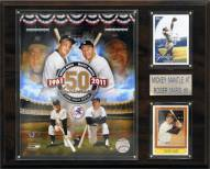 """New York Yankees Mickey Mantle-Roger Maris 12"""" x 15"""" Player Plaque"""