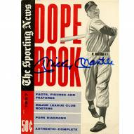 New York Yankees Mickey Mantle Signed 1957 The Sporting News Dope Book