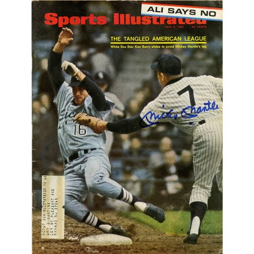 New York Yankees Mickey Mantle Signed 5/8/67 Sports Illustrated Magazine