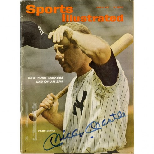 New York Yankees Mickey Mantle Signed 6/21/65 Sports Illustrated Magazine