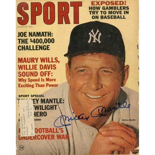 New York Yankees Mickey Mantle Signed August Sport Magazine
