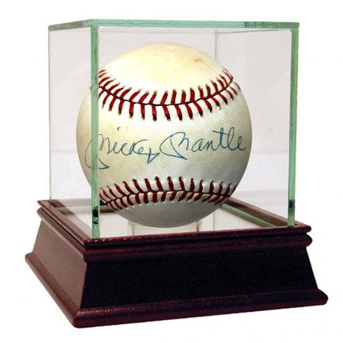 New York Yankees Mickey Mantle Signed OAL Brown Baseball