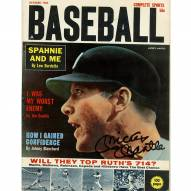 New York Yankees Mickey Mantle Signed Complete Sports Baseball Magazine October 1962