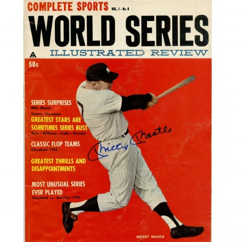 New York Yankees Mickey Mantle Signed Complete Sports Magazine