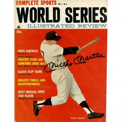 New York Yankees Mickey Mantle Signed Complete Sports World Series Illustrated Review Magazine