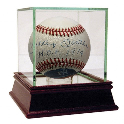 New York Yankees Mickey Mantle Signed Hand Painted Baseball HOF 1974