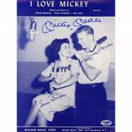 New York Yankees Mickey Mantle Signed I Love Mickey 9 x 12 Sheet Music