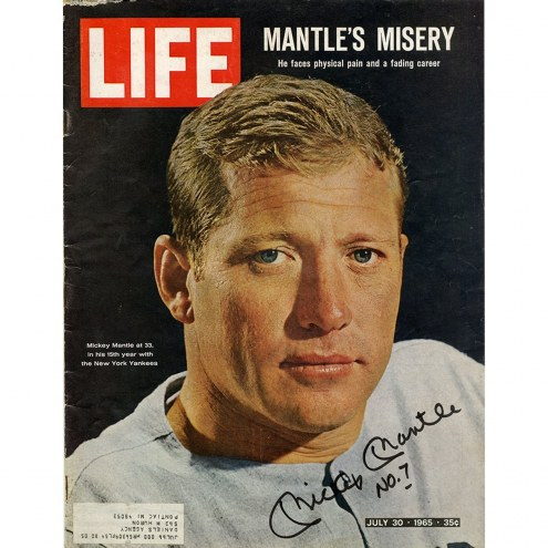 New York Yankees Mickey Mantle Signed July 30, 1965 Life Magazine w/ No 7