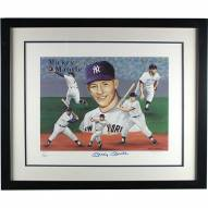 New York Yankees Mickey Mantle Signed Multi Image Framed 17 x 20 Artwork by Don Sprague