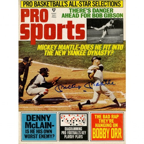 New York Yankees Mickey Mantle Signed Pro Sports Magazine May 1969 Issue
