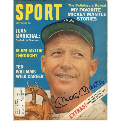 New York Yankees Mickey Mantle Signed September Sport Magazine