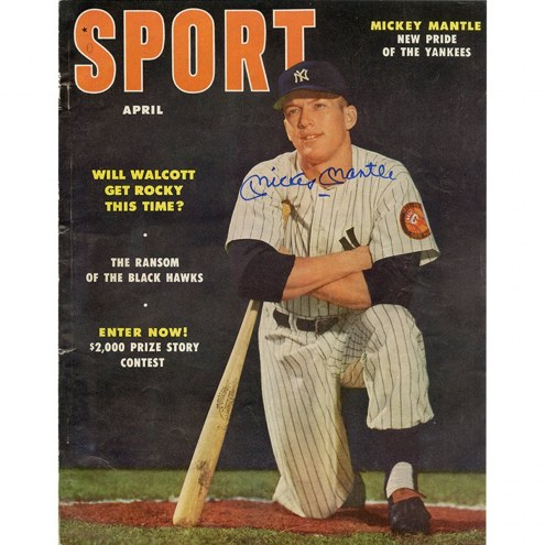 New York Yankees Mickey Mantle Signed Sport Magazine April 1953 Issue