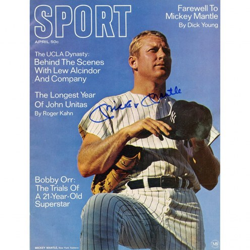 New York Yankees Mickey Mantle Signed Sport Magazine April 1969 Issue