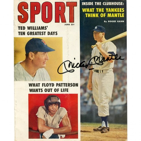 New York Yankees Mickey Mantle Signed Sport Magazine June 1959 Issue