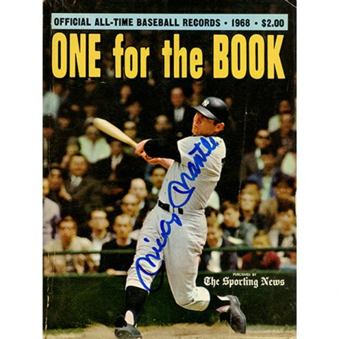 New York Yankees Mickey Mantle Signed The Sporting News One For The Record Book Magazine