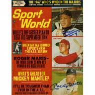 New York Yankees Mickey Mantle Willie Mays Signed Sport World Magazine October 1967 Issue