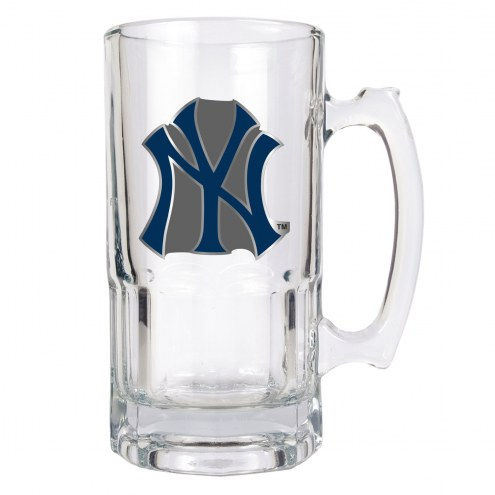 New York Yankees MLB 1 Liter Glass Macho Mug