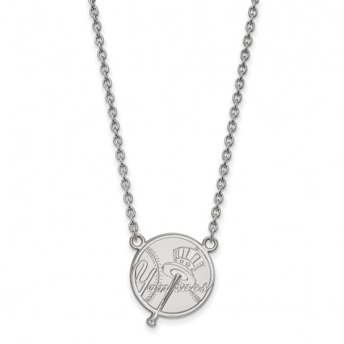 New York Yankees Sterling Silver Large Pendant Necklace