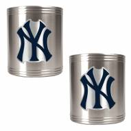 New York Yankees MLB Stainless Steel Can Holder 2-Piece Set