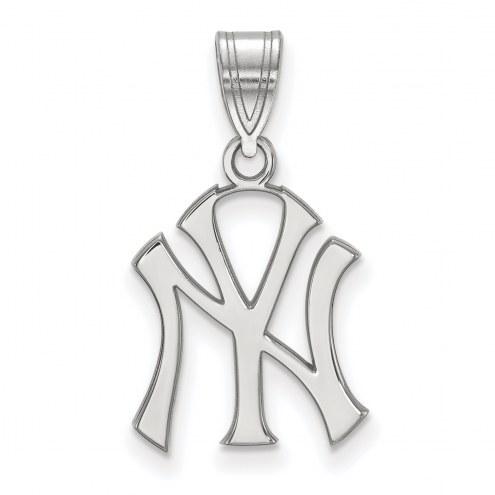New York Yankees Sterling Silver Medium Pendant