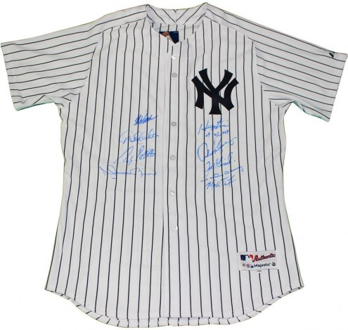 New York Yankees Multi Signed Authentic Pinstripe Jersey w/ 09 WS MVP