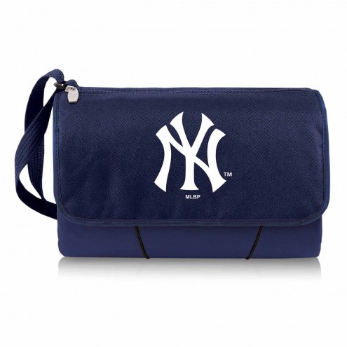 New York Yankees Navy Blanket Tote