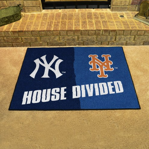 New York Yankees/New York Mets House Divided Mat