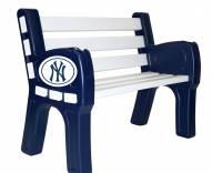 New York Yankees Park Bench