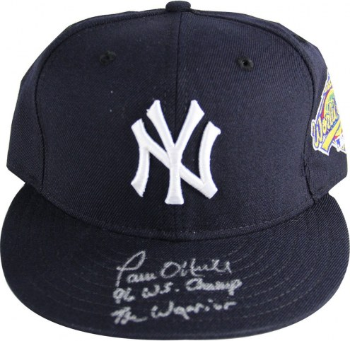 New York Yankees Paul ONeill Signed Authentic Hat w/ 1996 WS Patch and 96 WS Champs The Warrior