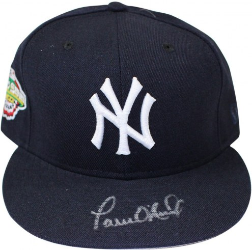 New York Yankees Paul ONeill Signed Authentic Hat w/ 2001 WS Patch Size