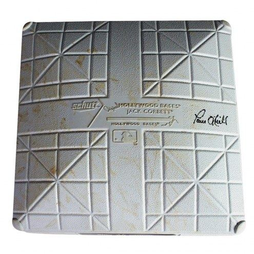 New York Yankees Paul ONeill Signed Indians at Yankees 8-09-2014 Game Used Paul ONeill Day First Base