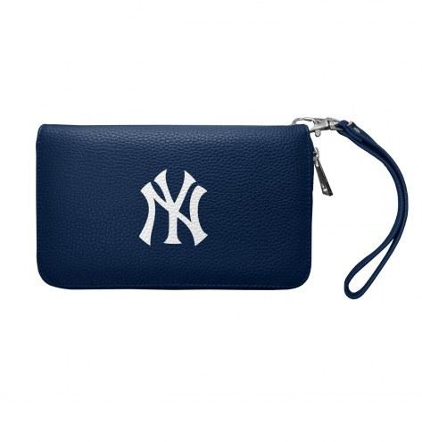 New York Yankees Pebble Organizer Wallet