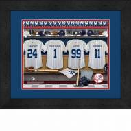 New York Yankees Personalized Locker Room 13 x 16 Framed Photograph