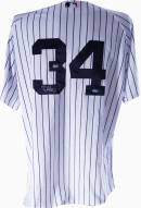New York Yankees Phil Hughes Signed 2008 Authentic Home Jersey #34 with All Star and Final Season Patches