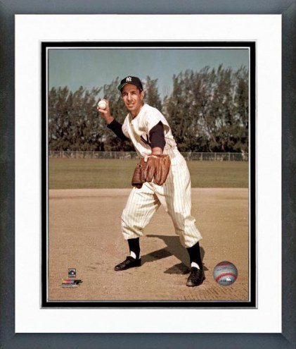 New York Yankees Phil Rizzuto Fielding Framed Photo