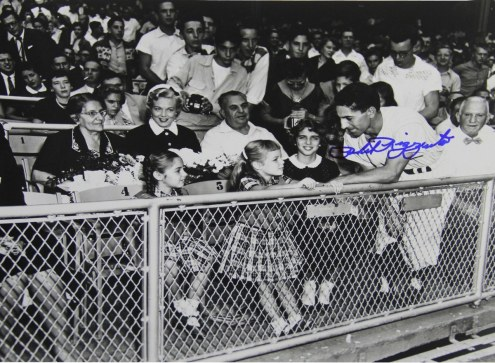 New York Yankees Phil Rizzuto Signed B/W in Stands 8 x 10 Photo
