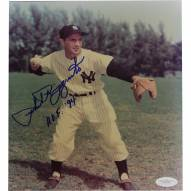 New York Yankees Phil Rizzuto Signed Pre-Throw Pose with HOF 94 8 x 10 Photo