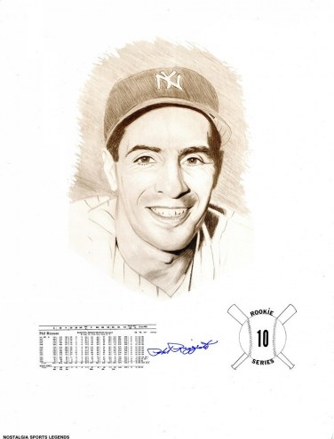 New York Yankees Phil Rizzuto Signed Print with Stats