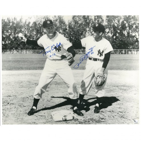 New York Yankees Phil Ruzzuto #10/Tony Kubek #10 Dual Signed and Inscribed 16 x 20