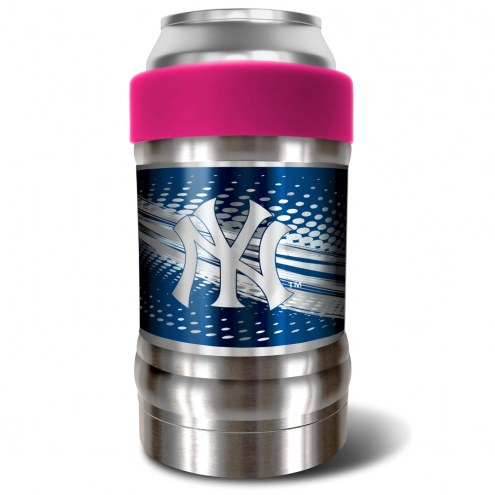 New York Yankees Pink 12 oz. Locker Vacuum Insulated Can Holder