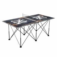 New York Yankees Pop Up 6' Ping Pong Table